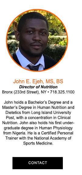 John Emmanuel Ejeh, BS, MS Clinical Nutrition