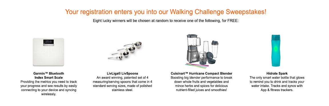 Walking Challenge Sweepstakes